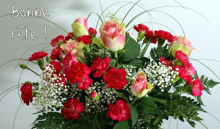Cartes postales virtuelles de la coudouli re s rie des f tes for Bouquet de fleurs pour 70 ans